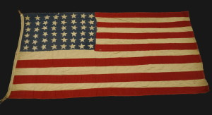 The flag - courtesy National Infantry Museum, Fort Benning, GA