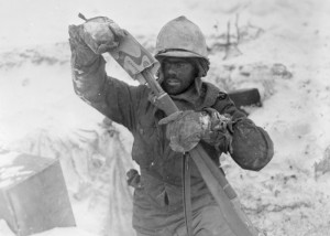 Clean cut 99th Div soldier Elsenborn Ridge